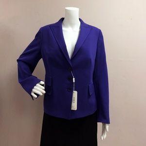 Akris Punto Lavender Wool Button Jacket